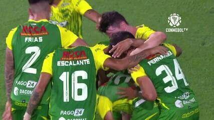 O gol de Defensa y Justicia 1 x 0 Bahia, pelas quartas de final da Copa Sul-Americana