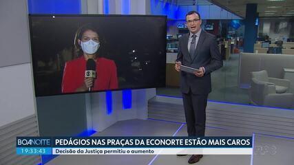 Tarifas de pedágio nas praças da Econorte estão mais caros