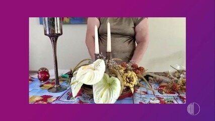 Faça Você Mesmo: dica de arranjo floral para mesa de Natal