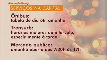 Veja o que abre e o que fecha no feriado de Natal em Porto Alegre