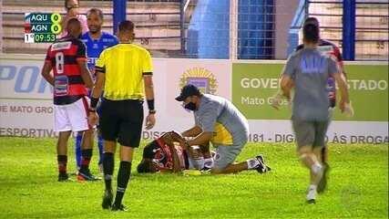 Lateral Fabiano, do Águia Negra, sofre fratura no braço