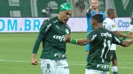 Os gols de Palmeiras 1 x 1 América-MG, pelas semifinais da Copa do Brasil