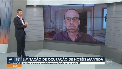 TJ mantém proibição de 100% da ocupação em hotéis