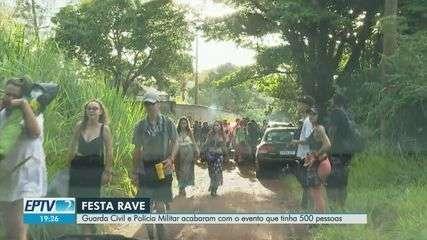 Fiscalização impede rave clandestina com centenas em Ribeirão Preto, SP