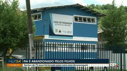 Pai é abandonado pelos filhos em Francisco Beltrão