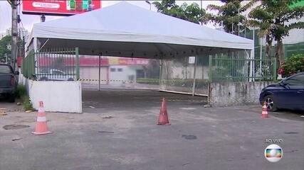 Com aumento no número de casos de Covid, hospitais de Manaus voltam com as tendas