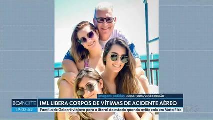 IML libera corpos de vitimas de acidente aéreo em Mato Rico