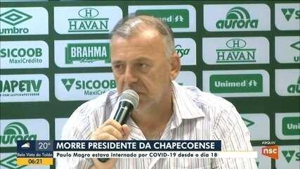 Presidente da Chapecoense morre vítima da Covid em SC