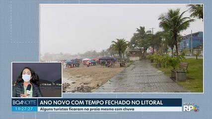 2021 começou com chuva nas praias