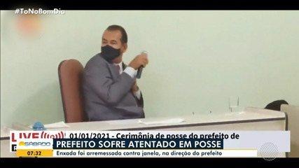 Prefeito sofre ataque durante posse em Tabocas do Brejo Velho