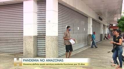 Governo do Amazonas publica decreto com o que pode e o que não pode funcionar por 15 dias