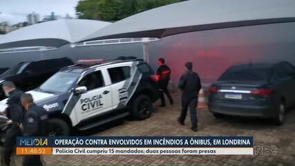Polícia Civil cumpre operação contra envolvidos em incêndios a ônibus de Londrina