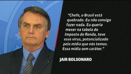 Jair Bolsonaro: 'Brasil está quebrado, eu não consigo fazer nada'