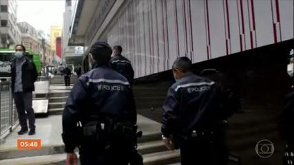 Mais de 50 pessoas são detidas em Hong Kong com base na nova lei de segurança nacional
