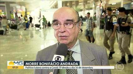 Ex-deputado Bonifácio Andrada morre aos 90 anos, por complicações decorrentes da Covid-19