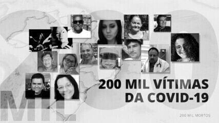 Brasil chega à marca de 200 mil mortos pela Covid-19