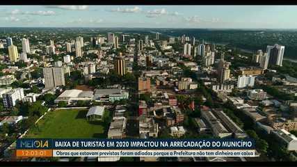 Baixa de turistas em 2020 impactou na arrecadação de impostos em Foz do Iguaçu