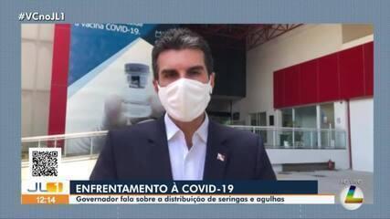 Governador do Pará, Helder Barbalho, fala sobre distribuição de seringas para vacina