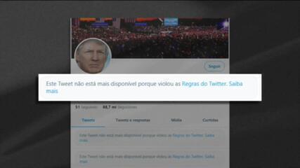 Instagram, Facebook e Twitter bloqueiam contas de Donald Trump temporariamente