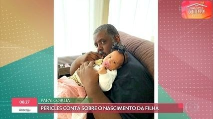 Péricles fala sobre a chegada da filha e os desafios da paternidade