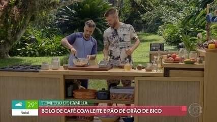 Rodrigo Hilbert recebe Bruno Gagliasso no 'Tempero de Família'