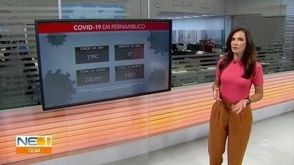 Pernambuco registra mais 1.190 casos de Covid-19 e 37 óbitos