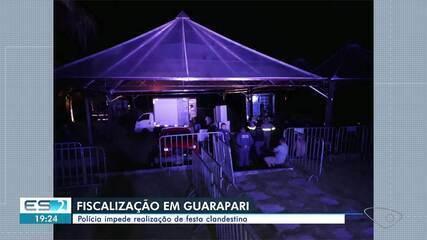 Fiscalização impediu festa clandestina em Guarapari