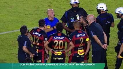 Com polêmica no fim, Palmeiras vence o Sport em Pernambuco