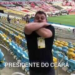 """Presidente do Ceará vibra com elenco e provoca Flamengo após vitória: """"Vapo vapo"""""""