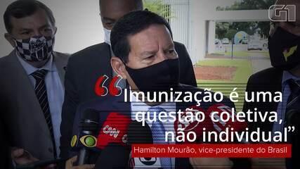 VÍDEO: Imunização 'é uma questão coletiva, não individual', diz Mourão