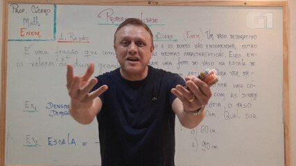 Lá Vem o Enem 2020: aula virtual com professor de matemática ensina sobre razão