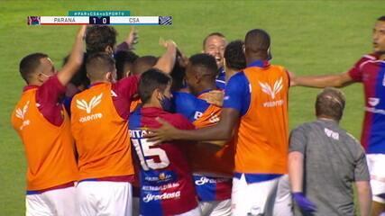 Os gols de Paraná 2 x 0 CSA, pela 34ª rodada do Brasileirão Série B