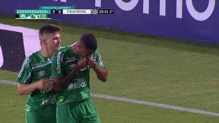 Os gols de Chapecoense 2 x 1 Figueirense, pela 34ª rodada do Brasileirão Série B