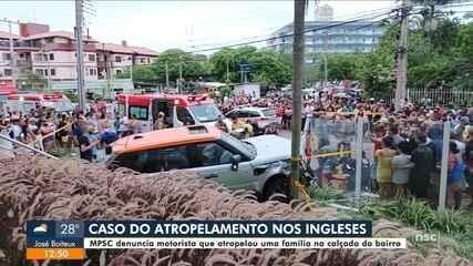 MPSC denuncia motorista que atropelou uma família na calçada em Florianópolis