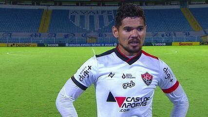 Léo Ceará fala sobre o empate do Vitória com o Avaí, fora de casa