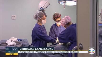 Avanço da Covid-19 faz plano de saúde manter suspensão de cirurgias eletivas