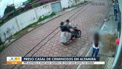 Polícia Militar prende casal que praticava assaltos em Altamira, no Pará