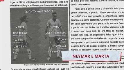 Enem 2020: correção da questão sobre Marta e Neymar (10 da prova branca)
