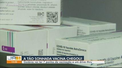 Vacinas contra Covid-19 chegam a Goiás, mas vacinação em Goiânia começa quarta-feira