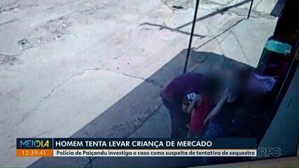 VÍDEO: Homem tenta levar criança de mercado em Paiçandu