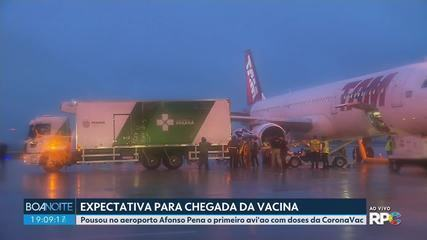 Doses da vacina CovonaVac chegam ao Paraná