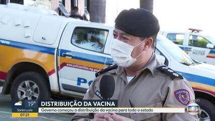 Governo de Minas começa a distribuição da vacina para todo o estado