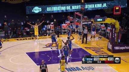 Curry define, e Lebron erra no fim do jogo entre Lakers X Warriors