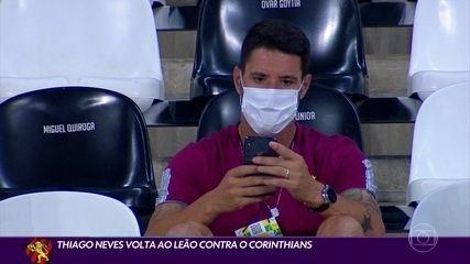 Com retorno de Thiago Neves, Sport se prepara para pegar o Corinthians