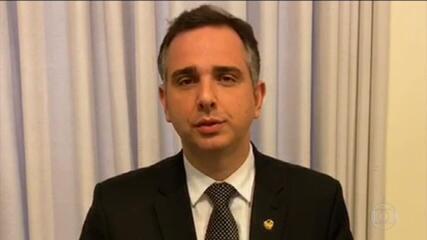 Senador Rodrigo Pacheco, do DEM, anuncia candidatura à presidência do Senado