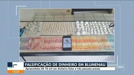 PMSC localiza suspeitos de participação em esquema de fabricação de dinheiro falso