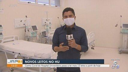 Centro Covid-19 do Hospital Universitário abre nova ala de UTI após lotação