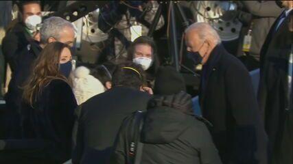 'União', responde Biden à pergunta da correspondente da GloboNews Raquel Krähenbühl