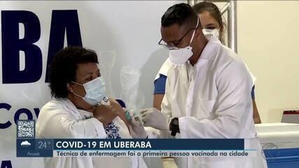 Vacinação contra a Covid-19 é iniciada em Uberaba