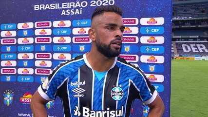 Maicon analisa o empate do Grêmio com o Atlético-MG e as lesões que ele vem sofrendo